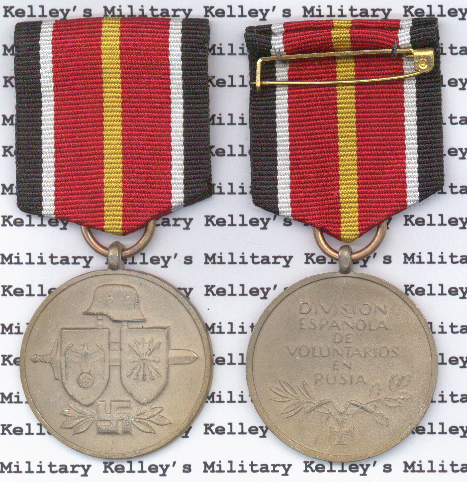 Spanish Quot Blue Quot Division Medal Kelleys Military