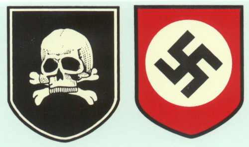 Ss death head helmet decal set kelleys military
